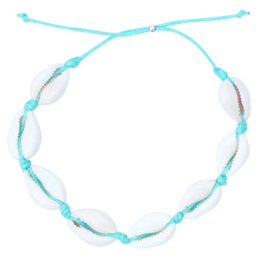 Sea shell turquoise anklet
