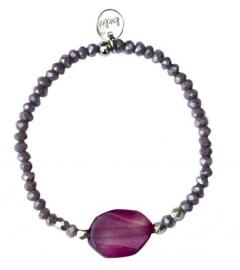 Amethyst purple opal