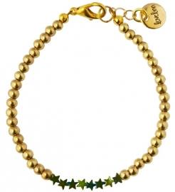 Gold & green stars