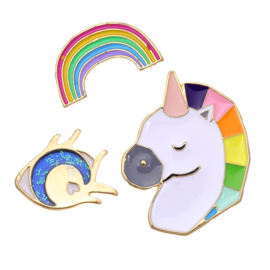 Pins unicorn - rainbow