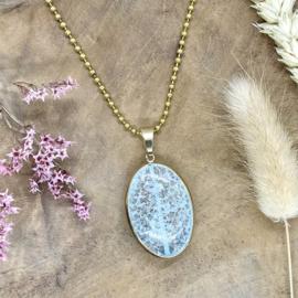 Light blue gemstone