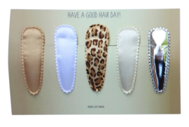 Set haarspeldjes meisje - leopard silver