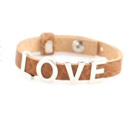 Leather letter bracelets
