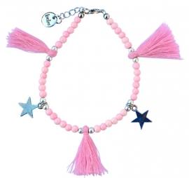 Baby pink star enkelbandje
