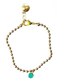 Ballchain gold turquoise