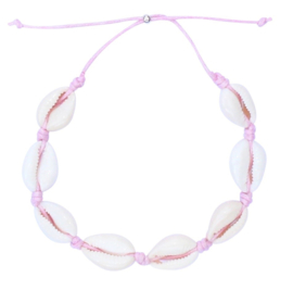 Sea shell light pink anklet