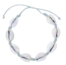 Sea shell grey anklet