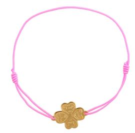 Clover bracelet pink