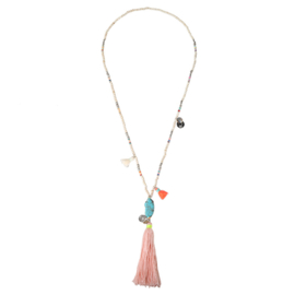 Necklace turquoise & tassels