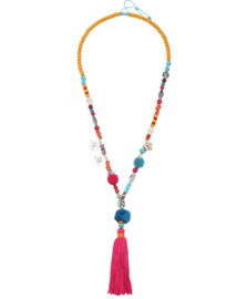 Gipsy necklace red/yellow