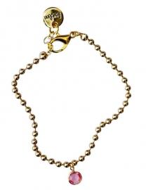 Ballchain gold pink