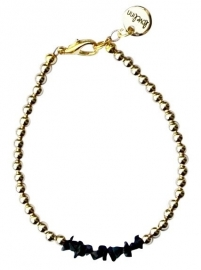 Gold black chipstone