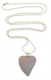 Light grey heart necklace