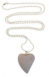 Light grey heart necklace