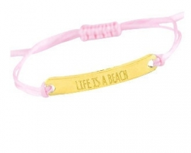 Life is a beach - pink/gold