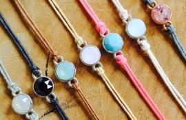 Swarovski peach bracelet