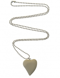 Grey heart necklace