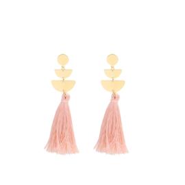 Tassels gold - pink