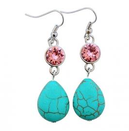 Swarovski turquoise pink