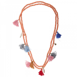 Ibiza double necklace tassels