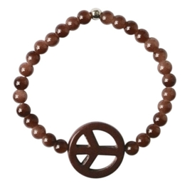 Peace brown