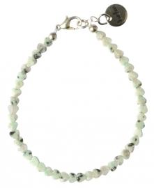 Green jade hearts