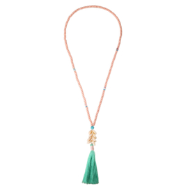 Ibiza necklace pink - mint shells