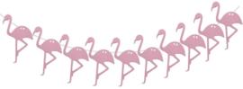 Slinger flamingo hout roze