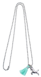Unicorn ketting mint/zilver