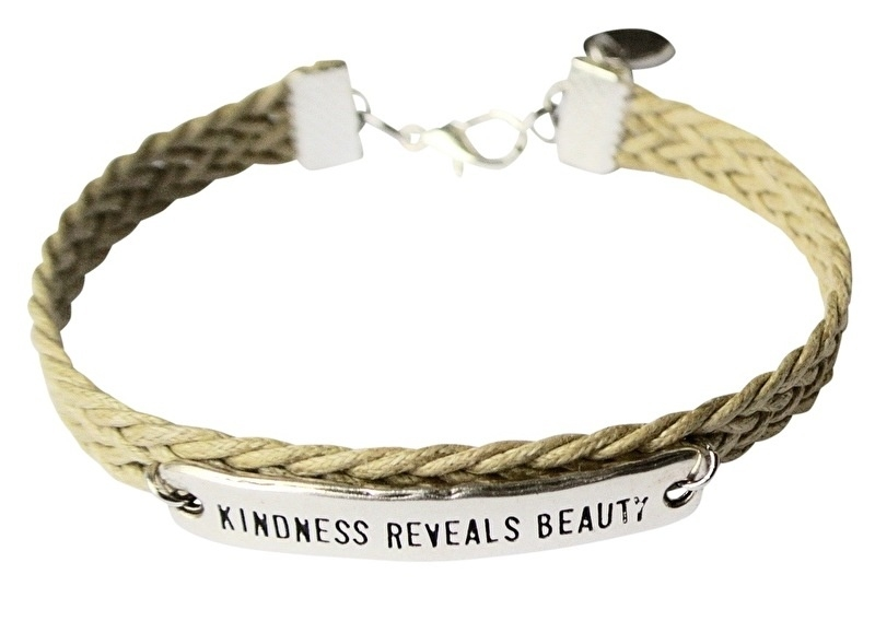 Kindness reveals beauty silver