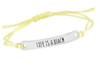 Life is a beach - yellow/silver