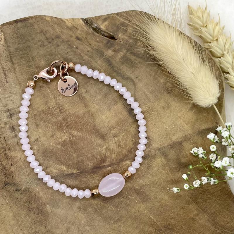 Rose quartz - rosé gold & light pink