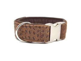 Halsband Kroko-look