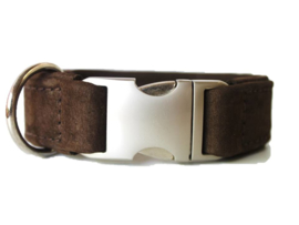 Halsband Leer  Bruin Buffelleer Verstelbaar