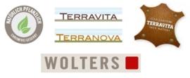 Terravita Looplijn Leer Plat  125 cm kastanje