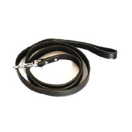 Looplijn Leer 100 - 180 cm zwart