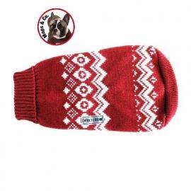 Noorse Trui  rood Mops & Co