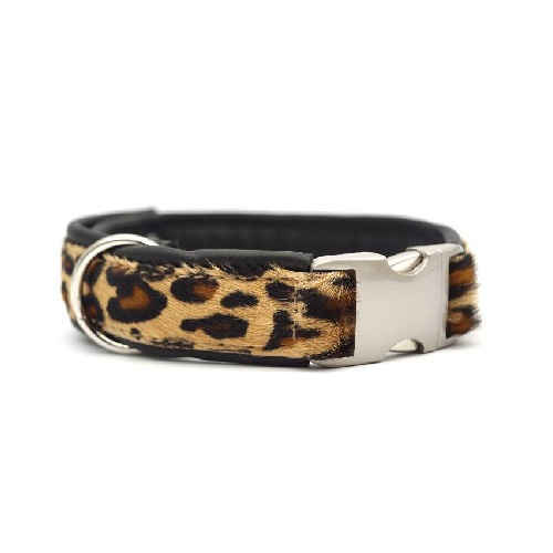 Halsband Koevacht Luipaardprint Verstelbaar