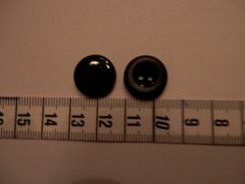Knoop zwart, 15mm