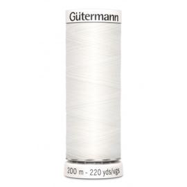 Gutermann 200m allesnaaigaren wit