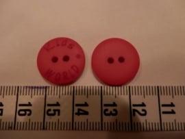 Knoop Kids world rood, 18mm