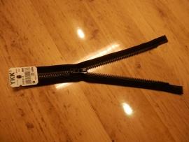 YKK bloktand rits, 25cm, deelbaar, zwart