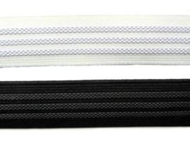 Antislip elastiek 25mm wit