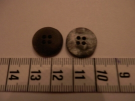 Knoop grijs gevlamd, 25mm
