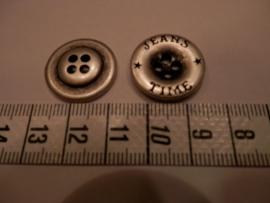 Knoop, metaal, Jeans Time , 20mm