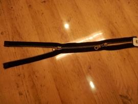 YKK rits, dubbel deelbaar, 40cm, zwart
