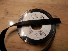 Satijnlint Zwart 16mm