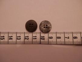 Knoop grijs gevlamd , 15mm