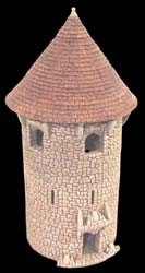 TAB189 - Fieldstone Conical Large Circular Tower