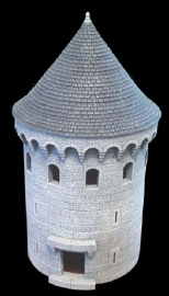 TAB187 - Gothic Conical Large Circular Tower